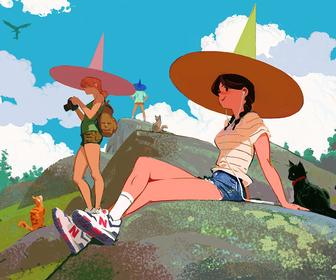 Artist Woonyoung Jung's relatable female characters and their comical, pseudo-real world
