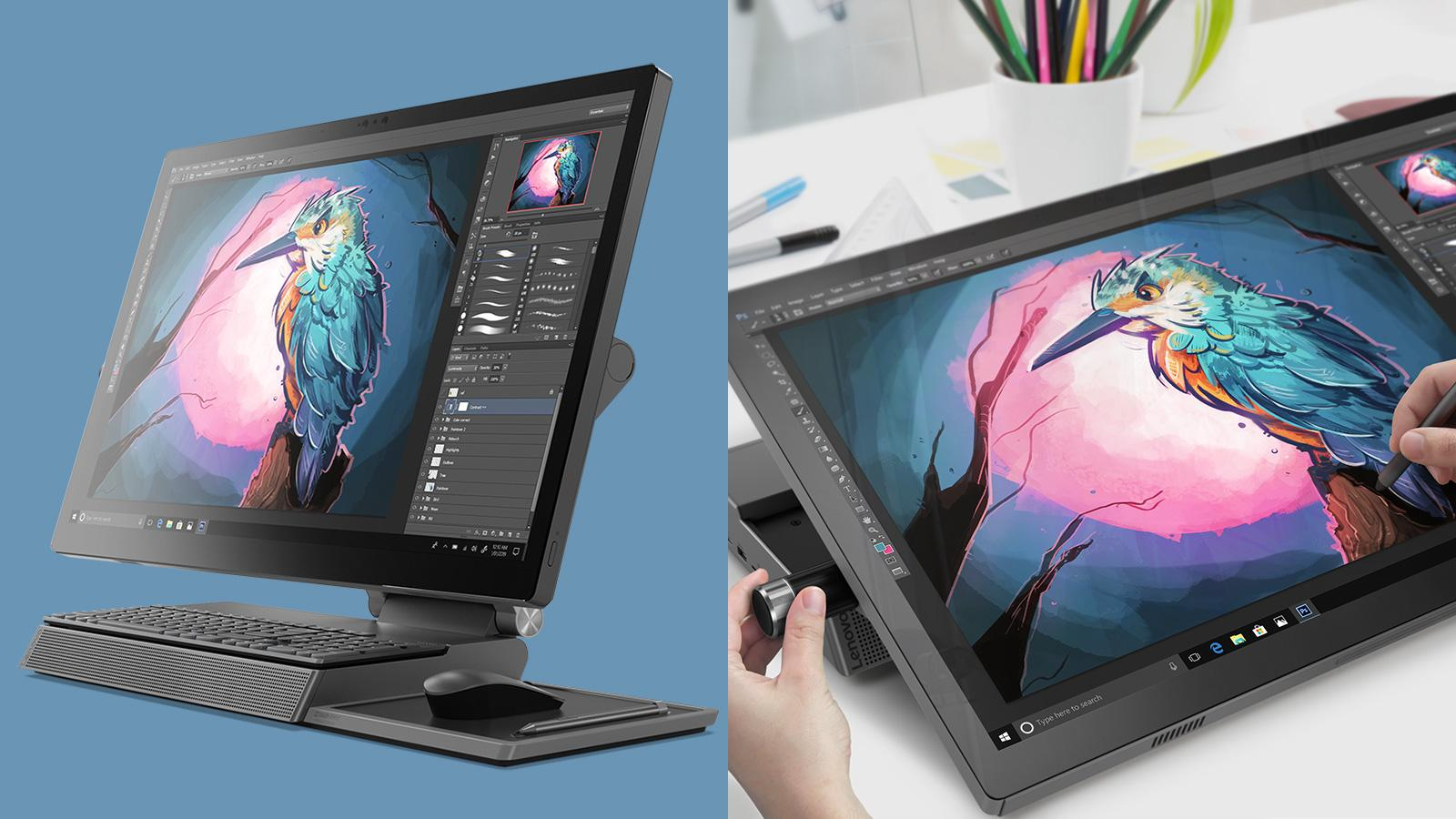 7911d37b2ef1fa Lenovo s new PC for artists and designers is the oddest-looking desktop you  can draw on - Digital Arts