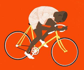 Award-winning illustrator Eliza Southwood captures the cyclist spirit with grace
