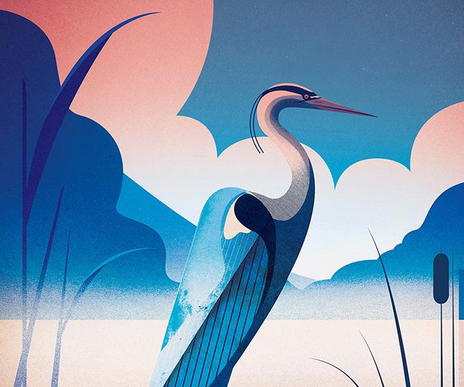 Illustrator Charlie Davis on creating bold shapes and otherworldly colours for Greeks gods and rockets to the stars